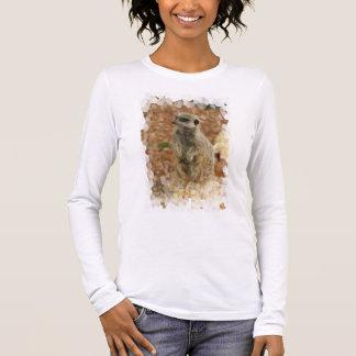 Baby Meerkat Long Sleeve Ladies T-Shirt