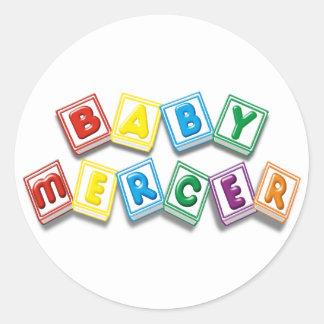 Baby Mercer Round Sticker