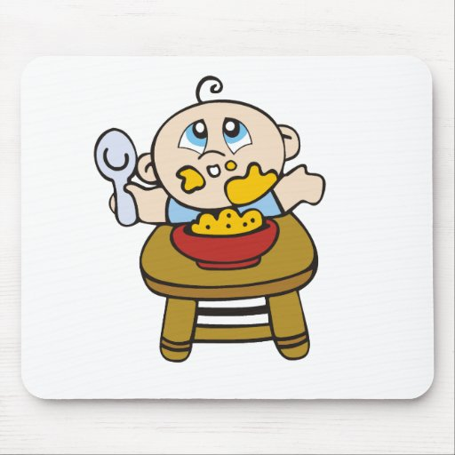 Baby Messy Eater Tshirts and Gifts Mouse Pad