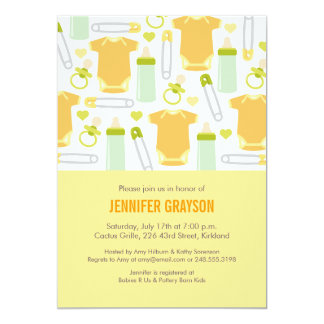 Baby Mix Baby Shower Invitation in Yellow