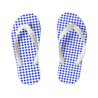 Baby-Mod-Blue-Floral-Step's(c) Multi-Sizes Flip Flops