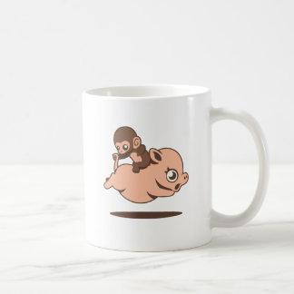 Baby Monkey (Going Backwards on a Pig) Coffee Mug