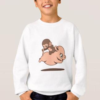 Baby Monkey (Going Backwards on a Pig) Sweatshirt