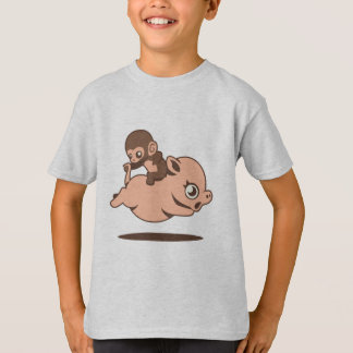 Baby Monkey (Going Backwards on a Pig) T Shirt