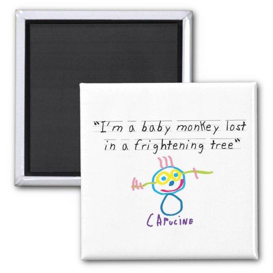 Baby monkey magnet