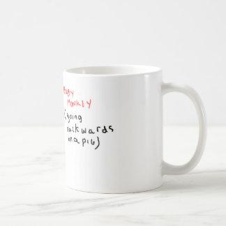 Baby Monkey (riding backwards on a pig) Classic White Coffee Mug