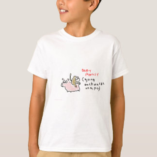 Baby Monkey (riding backwards on a pig) T-Shirt