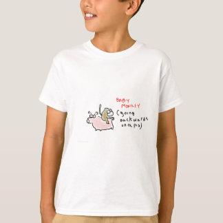 Baby Monkey (riding backwards on a pig) T Shirt