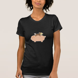Baby Monkey Riding on a Pig Tee Shirt