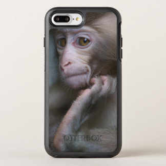 Baby monkey staring. OtterBox symmetry iPhone 7 plus case