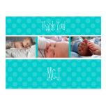 Baby monogram thank you, polka dots