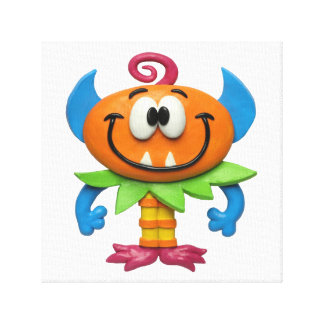 Baby Monster Baby Boy Shower Nursery Stretched Canvas Prints