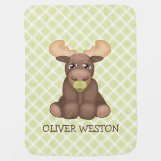 Baby Moose Personalised Blanket