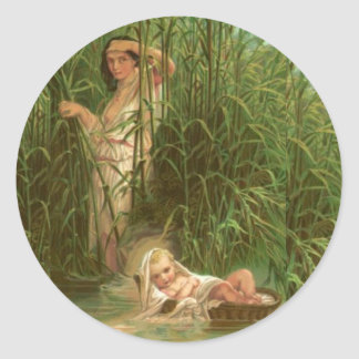 Baby Moses And The River Nile Round Sticker