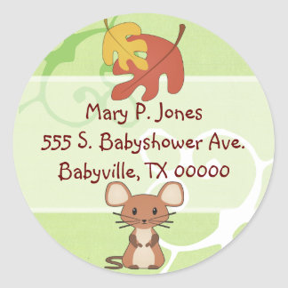 Baby Mouse Address Label Stickers