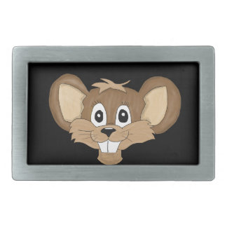 Baby mouse rectangular belt buckle