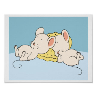Baby Mouse sleeping Poster