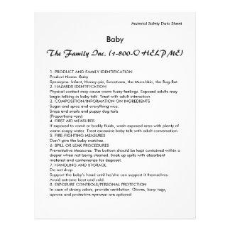 Baby MSDS / SDS Full Color Flyer