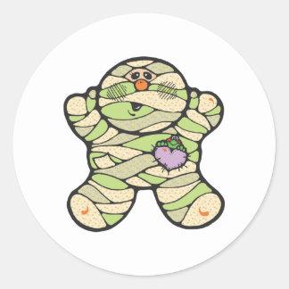 baby mummy round sticker