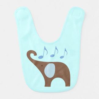 Baby Music Elephant Bib