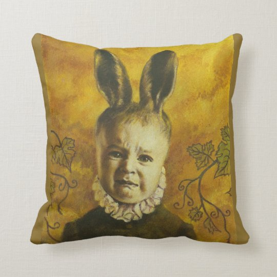 Baby Mutant Bunny Throw Cushion