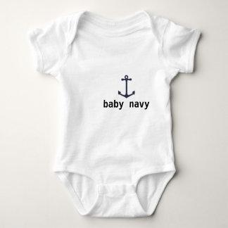 baby navy baby bodysuit