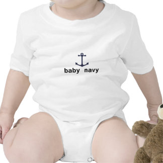 baby navy rompers