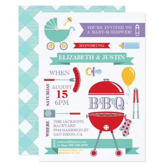 Baby Neutral - Modern BBQ Shower Invitation