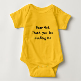 Baby New Born Tshirt Dear God thank you