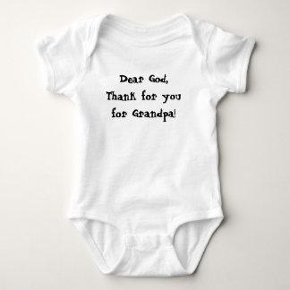 Baby New Born Tshirt Dear God thank you Grandpa