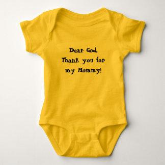 Baby New Born Tshirt Dear God thank you  Mommy