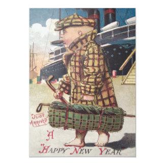 Baby New Year Cigar Golf Bag Ship 13 Cm X 18 Cm Invitation Card