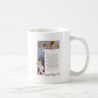 Baby New Year Ringing Bells Dove Basic White Mug