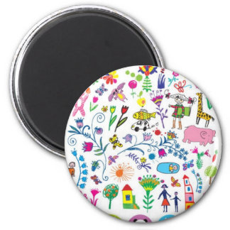 Baby objects 6 cm round magnet