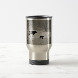 Baby Of Cow In His First Snowfall At Zoo Coffee Mugs