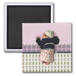 Baby of love square magnet