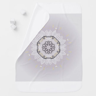 Baby old-style vintage Blanket with Mandala art Buggy Blanket