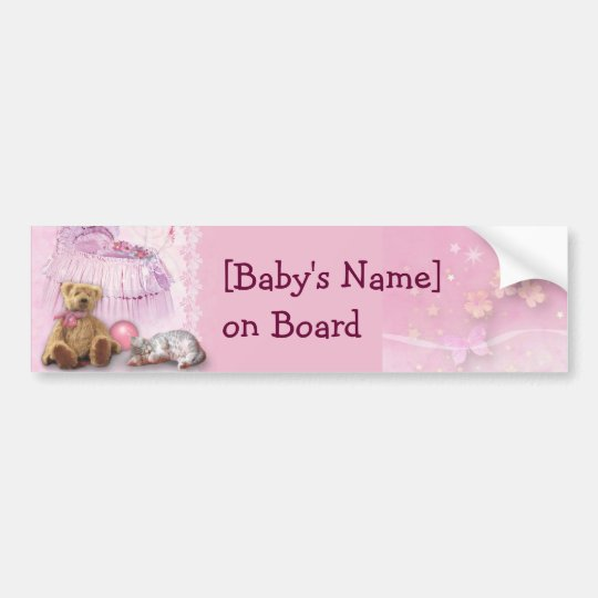 Baby on Board (customisable) Bumper Sticker
