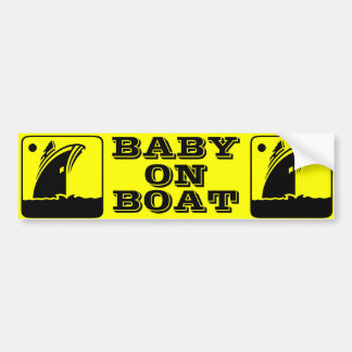 BABY ON BOAT Bumper Sticker