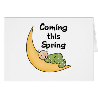 Baby on Moon Spring Greeting Card
