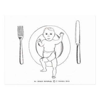 Baby on Plate Postcard
