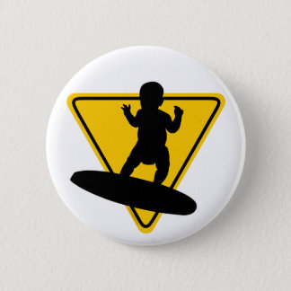 Baby on (Surf) Board 6 Cm Round Badge