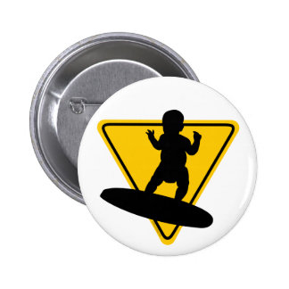 Baby on Surf Board Buttons