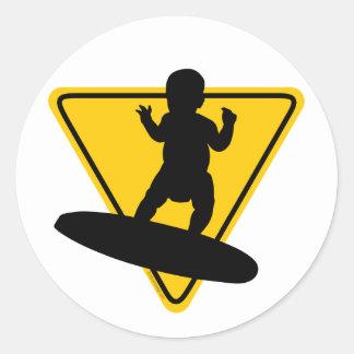 Baby on (Surf) Board Round Sticker
