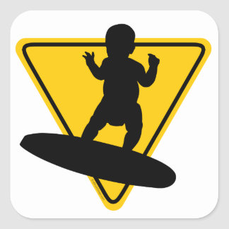 Baby on (Surf) Board Square Sticker