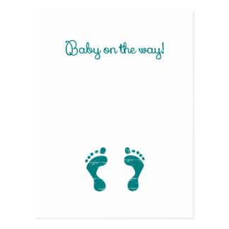 BABY ON THE WAY BLUE.png Postcard