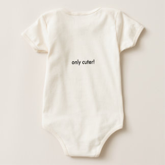 Baby one piece with text Just like dad Only cuter! Romper