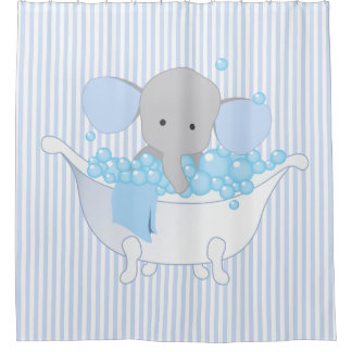 Baby or Child's Room Elephant Shower Curtain