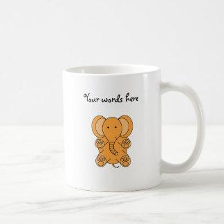 Baby orange elephant coffee mug