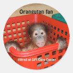 Baby Orangutan Alfred Round Stickers